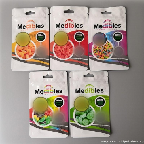 Medibles mylar bag edible bag 6 styles smell proof pouch gummy candy